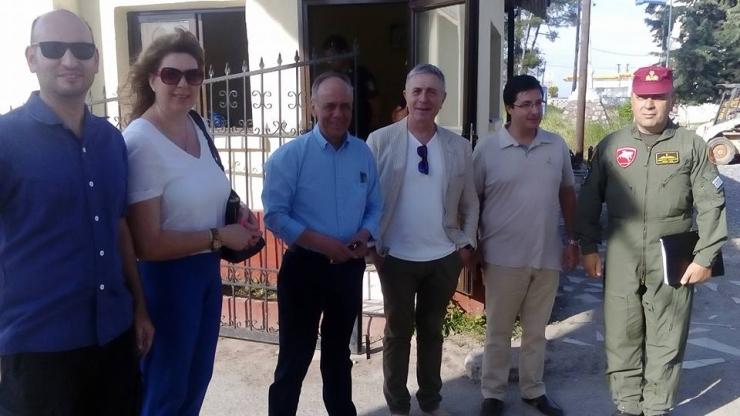 Επίσκεψη Αντωνίου με τον ευρωβουλευτη του ΣΥΡΙΖΑ Στέλιο Κουλογλου στο κέντρο φιλοξενίας προσφύγων Αλεξάνδρειας